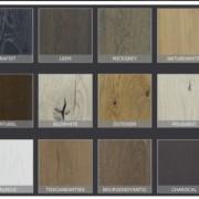 kleurstalen uitschuiftafel